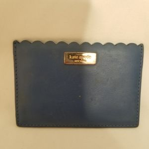 Kate Spade scalloped edged card holder